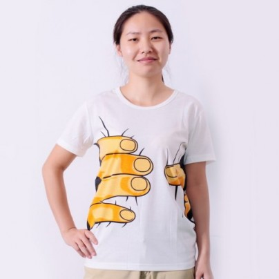"""You Have Been Caught By Large Hand"" T-shirt"