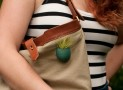 Tote Planter in Teal