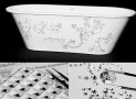 Bathtubs with Swarovski crystals