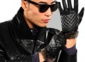 capacitive screen leather gloves