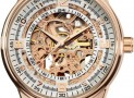 Men's 'Saturnos' Skeleton Automatic Gold Round Watch