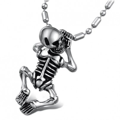 90% Discount: Skull Pendant Necklace for Men Fashion