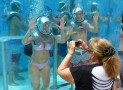 in Mexico's first underwater oxygen bar