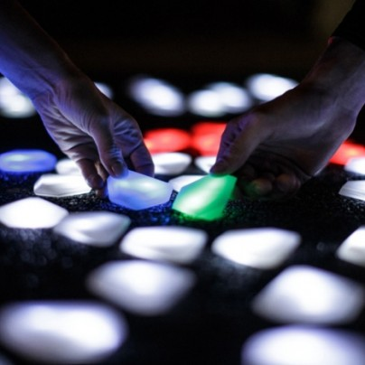 interactive LED crystals of light