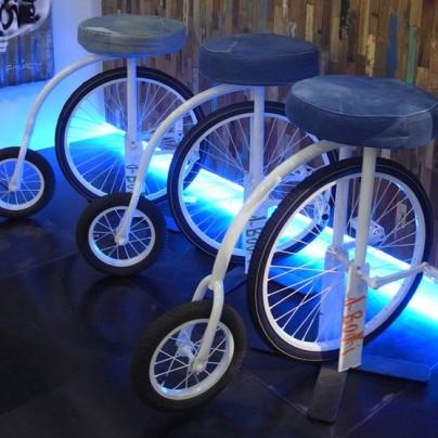 Denim cycling stool