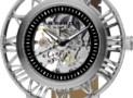 Akribos Skeleton Strap Watch