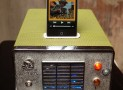 Ipod iphone charging station from vintage cb radio