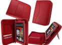 Red Leather Case Cover for Kindle Fire 7