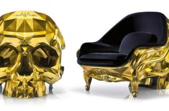 Golden Skull Chair