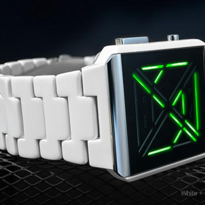 Kisai X Acetate White LED Watch