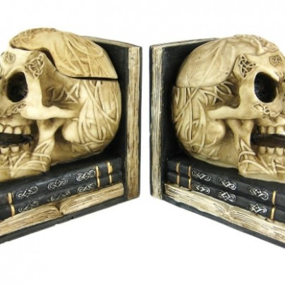 Celtic Knotwork Human Skull Bookends Stash Boxes