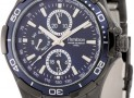 Black Ion-Plated Stainless Steel Blue Dial Bracelet Watch