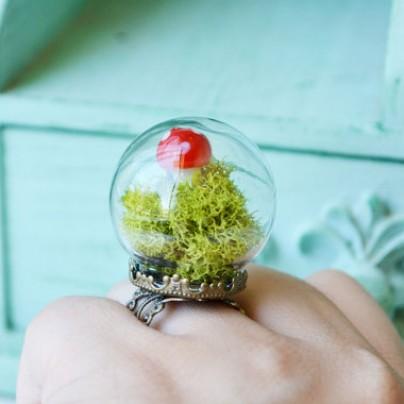 Mushroom Terrarium Ring