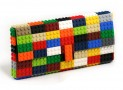 Multicolor clutch made entirely of LEGO bricks