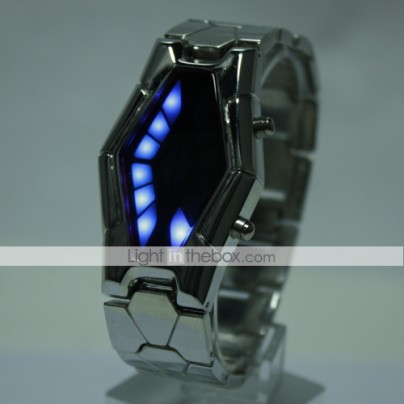 Stainless Steel Cardiograph LED Wrist Watch