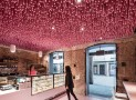ideo arquitectura adds undulating pink canopy