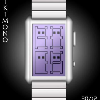 Ikimono  LCD watch