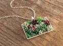 Rectangular Succulent Garden Necklace