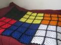 Handmade Rubik's Cube Blanket