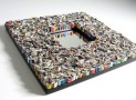 Pixel mirror – made from recycled magazines