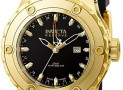 Invicta Men's 18k Gold-Plated Black Rubber Watch
