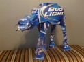 Star Wars made from recycled Bud Light beer boxes