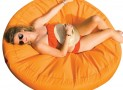 Round Orange Sunsoft Fabric Island Lounge