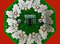 Wreath Circuit Board Ornament