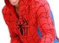 Spider-Man Red & Blue WEBBED Adult Hooded Sweatshirt Hoodie