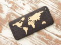 World Map Inlay iPhone 5