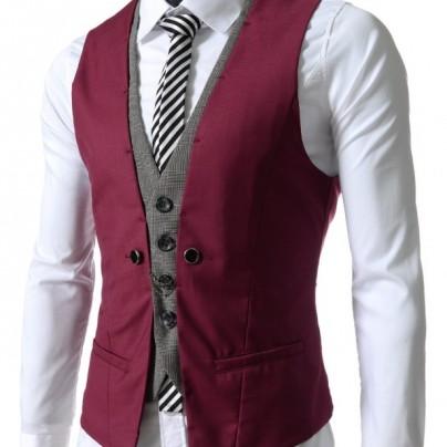 premium layered style slim vest waist coat