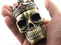 Skeleton Skull Design Novelty Metal Spice Grinder Pollen Screen