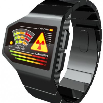 Radiation Level LED Watch Design