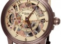 Stuhrling Original Men's Skeleton Gold Tone Watch