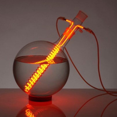 Lighting objects from neon gas + glassware
