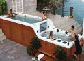 SPAmbient's hot tub with built-in TV