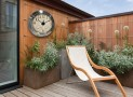 Oversized Outdoor Solar Clock