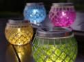 Outdoor Solar Mosaic Table Lantern Lights