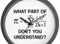 Math Attitude Wall Clock