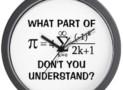 Math Attitude Wall Clock