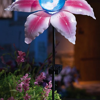 Solar Powered Lighted Lily Garden Stake Solar Lil