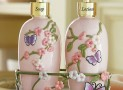 Cherry Blossom & Butterflies Dispensers w/ Caddy