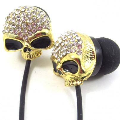 Gothic Metal Crystal Rhinestone Earphone