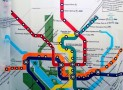 Transit Map Shower Curtain